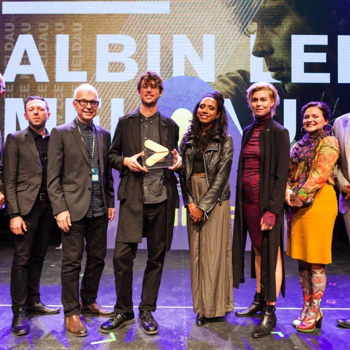 left to right: Ray Cokes, James Minor, Tony Visconti, winner Albin Lee Meldau, Y'akoto, Ana Ternheim, Emiliana Torrini, Alex Schulz | © Nina Zimmermann